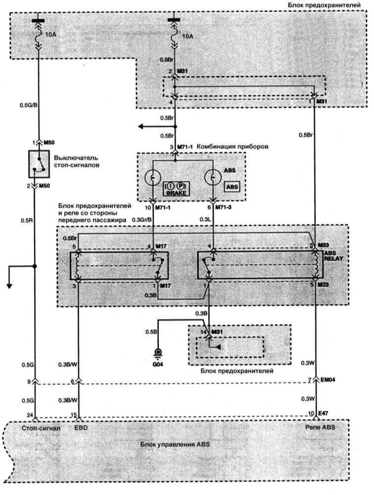 Электросхема системы зарядки